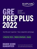 GRE Prep Plus 2022 Our 80 Year s Expertise   Your Competitive Advantage PDF