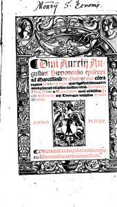 Ad Marcellinum: de Civitate dei: contra paganos