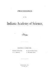 Proceedings of the Indiana Academy of Science: Volume 4