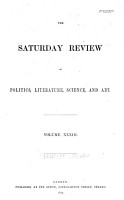 The Saturday Review of Politics  Literature  Science and Art PDF