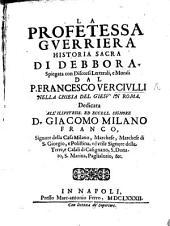 La profetessa guerriera, historia sacra di Debbora