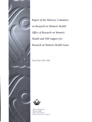 Report of the Advisory Committee on Research on Women s Health PDF
