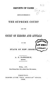 Reports of Cases Argued and Determined in the Supreme Court And, at Law, in the Court of Errors and Appeals of the State of New Jersey: Volume 24