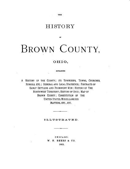 The History of Brown County  Ohio PDF