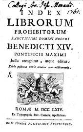 Index Librorum Prohibitorum: Jussu recognitus atque editus