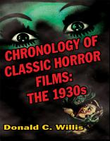Chronology of Classic Horror Films  The 1930s PDF