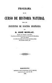 Programa de un curso de historia natural para los institutos de segunda enseñanza: botánica