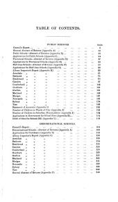 Report of the Council of Education Upon the Condition of the Public Schools and the Certified Denomination Schools
