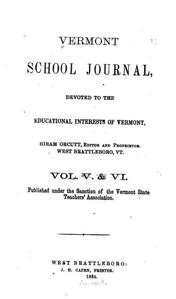 Download Vermont School Journal Book
