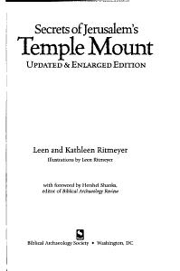 Secrets of Jerusalem s Temple Mount PDF