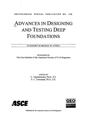 Advances in Designing and Testing Deep Foundations PDF