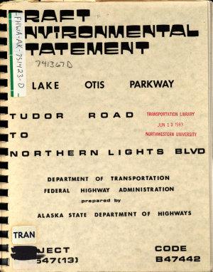Lake Otis Parkway Improvements  Tudor Road to Northern Lights Blvd  Anchorage PDF