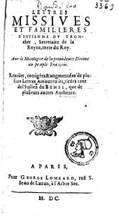Lettres missives et familières d'Estienne du Tronchet