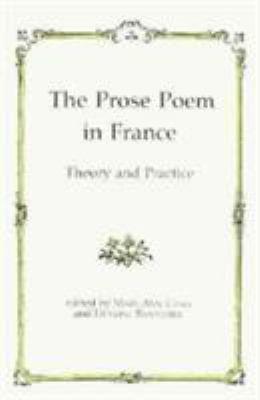 The Prose Poem in France PDF
