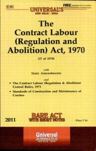 The Contract Labour  Regulation and Abolition  Act  1970 Book