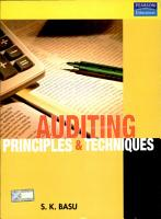 Auditing  Principles and Techniques PDF