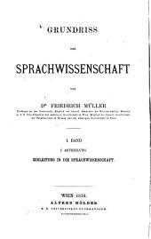 Grundriss der Sprachwissenschaft: Band 1