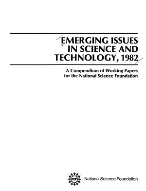 Emerging Issues in Science and Technology  1982 PDF