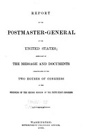 Annual Reports  Report of the Postmaster General  Miscellaneous Reports PDF
