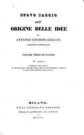 Nuovo saggio sull'origine delle idee: Volume 3