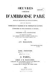 Oeuvres complètes d'Ambroise Paré...