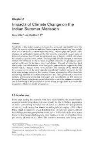 Impacts of Climate Change on the Indian Summer Monsoon