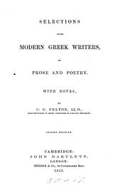 Selections from Modern Greek Writers, in Prose and Poetry