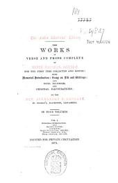 The Works in Verse and Prose Complete of Henry Vaughan, Silurist: Memorial-introduction and Sacred poetry ..., Volume 1