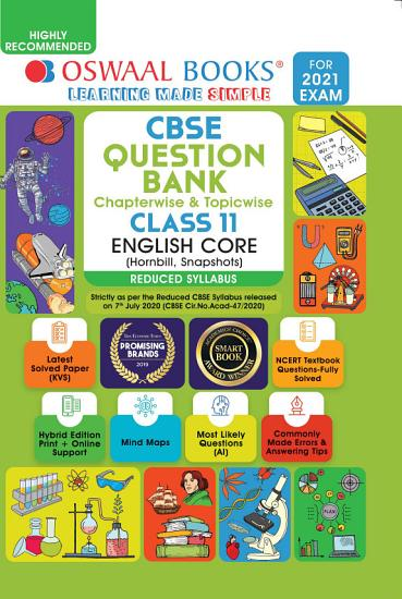 Oswaal CBSE Question Bank Class 11 English Core  Reduced Syllabus   For 2021 Exam  PDF