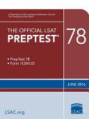 The Official LSAT Preptest 78  June 2016 LSAT