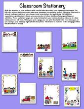 Classroom Stationery Set 1 by Karen's Kids