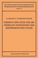 Formeln und S  tze f  r die Speziellen Funktionen der Mathematischen Physik PDF