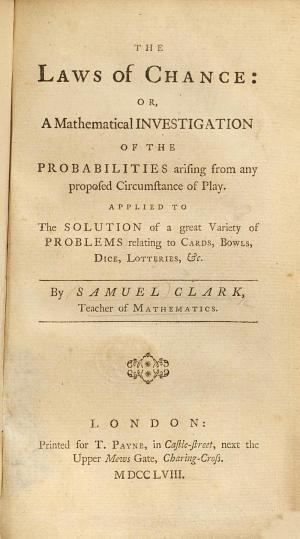 The Laws of Chance  Or a Mathematical Investigation of the Probabilities Arising from Any Proposed Circumstances of Play  Etc PDF