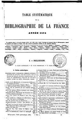 Bibliographie de la France PDF