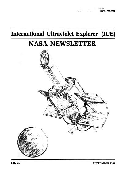 International Ultraviolet Explorer  IUE  NASA Newsletter PDF