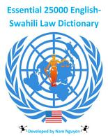 Essential 25000 English Swahili Law Dictionary PDF
