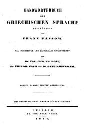 Handwörterbuch der griechischen Sprache: Band 2,Teile 1-2