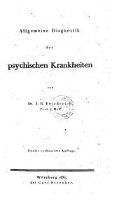 Allgemeine Diagnostik der psychischen Krankheiten