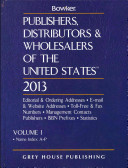 Publishers  Distributors and Wholesalers of the United States  2013
