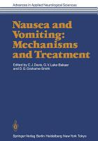Nausea and Vomiting  Mechanisms and Treatment PDF