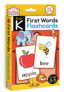 FIRST WORDS FLASHCARDS.