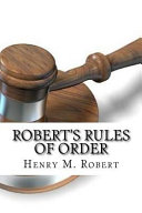 Robert s Rules of Order Book