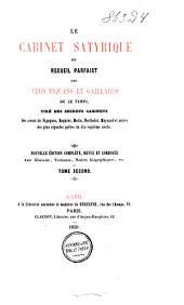 Le cabinet satyrique, ou, Recueil parfaict des vers piquans et gaillards de ce temps: Volume2
