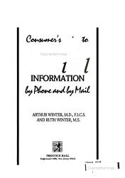 Consumer s Guide to Free Medical Information by Phone and by Mail PDF