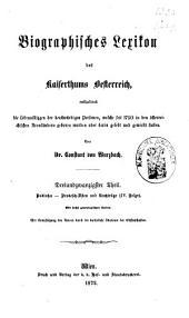 Biographisches Lexicon des Kaiserthums Österreich, enthaltend die Lebensskizzen der denkwürdigen Personen, welche 1750 bis 1850 im Kaiserstaate und in seinen Kronländern ... gelebt haben: Band 44