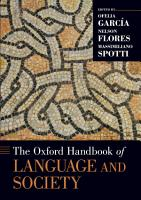 The Oxford Handbook of Language and Society PDF