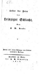 Über die Feier der Leipziger Schlacht