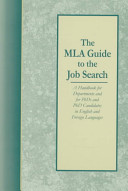 The MLA Guide to the Job Search