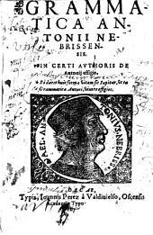 Grammatica Antonii Nebrissensis in certi authoris de Antonij effigie
