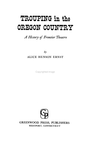 Trouping in the Oregon Country
